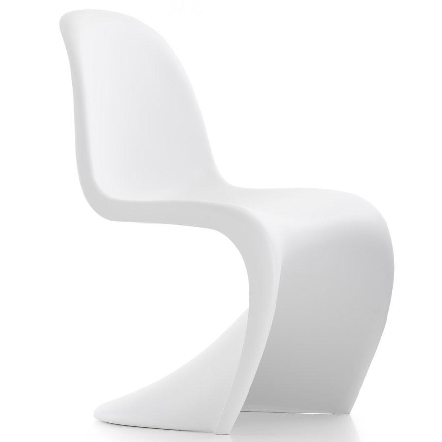 Panton Chair/Vitra   Verner Panton  Genomfärgad propylene, vita med matt yta. H: 83/41 cmB:50 cmD: 61 cm   Lagerstatus: I lager.