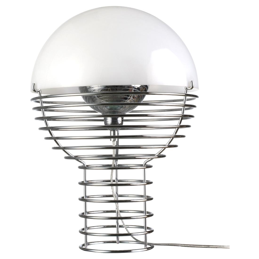 Wire  Bordslampa av Verner Panton 30 cm vit, 40 cm vit   Lagerstatus: I lager