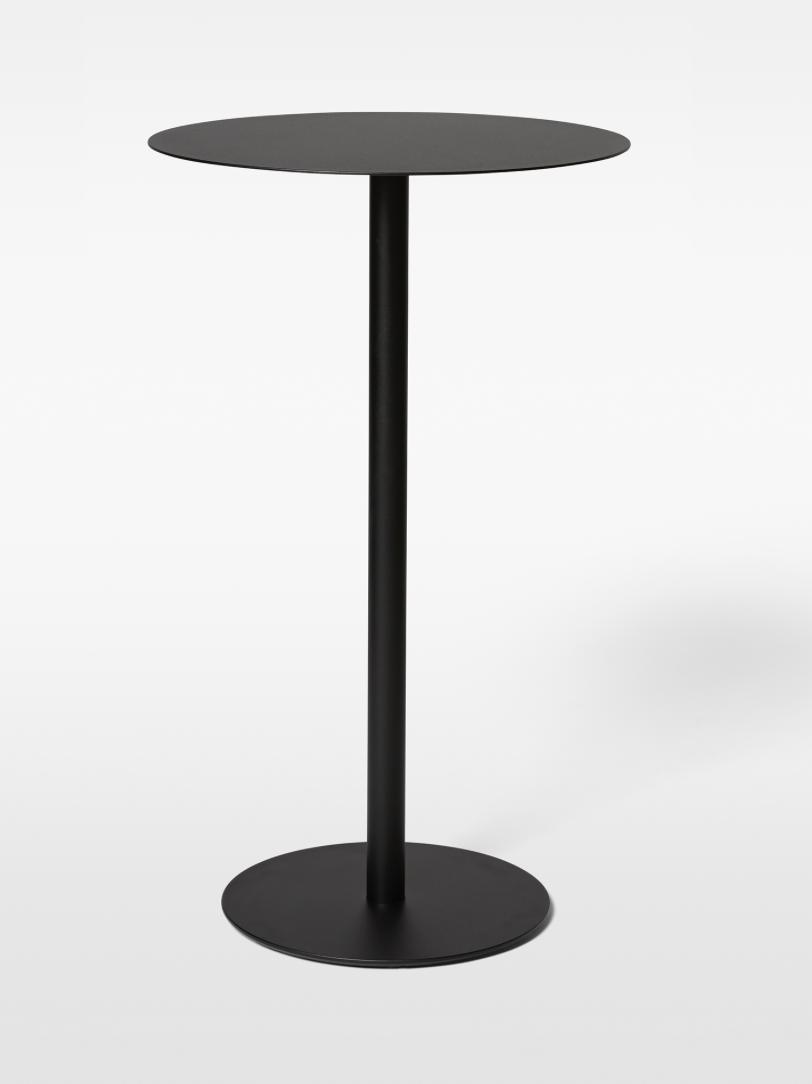 Odette Bar Table MASSPRODUCTION   Galvaniserat och pulverlackerat stål  H 100 cm D 50 cm   Lagerstatus; I Lager vit och svart