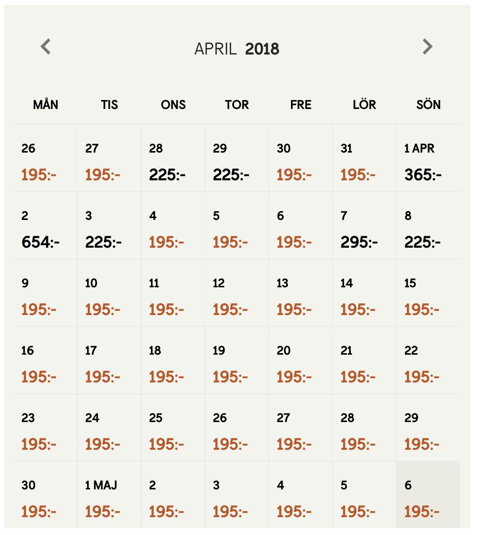 SJ:s lågpriskalender