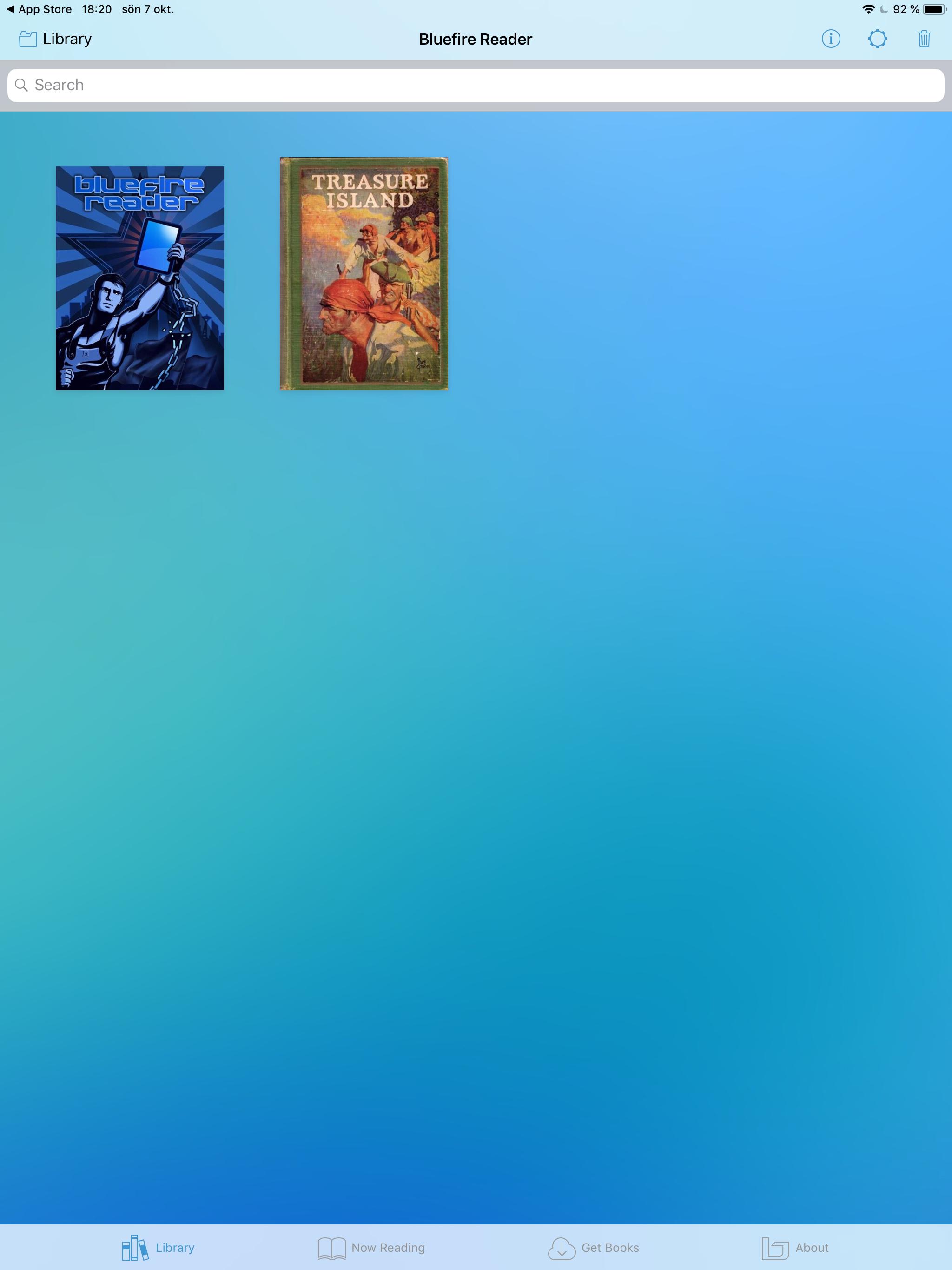 Logga in på Bluefire Reader e bok