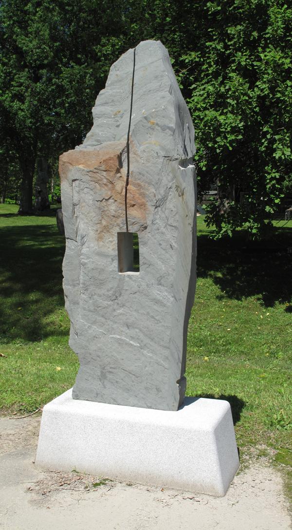 """Key to the Sea  Slate on Granite Base 84"""" x 36""""' x 18"""" 2005 $22,000"""