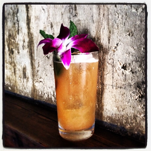 Cocktail o' the Week: Benidorm... Rum, Chartreuse, Lime, Pineapple, Guanabana Shrub, Ginger, Bitters #thecornerscocktails