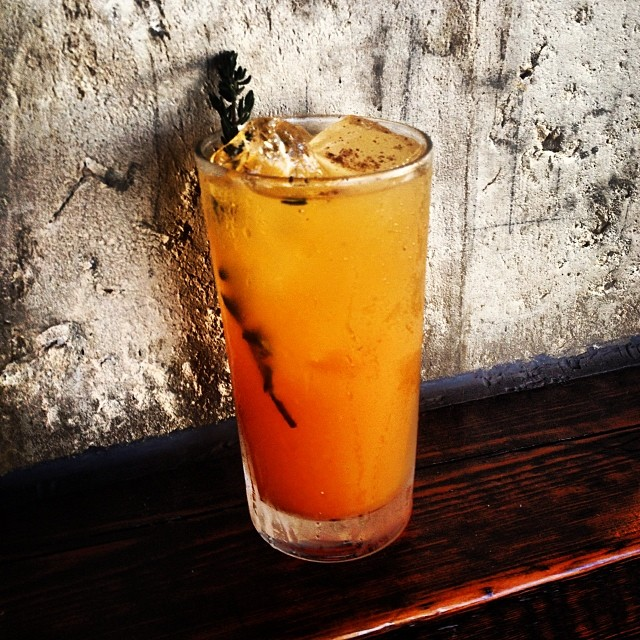 Cocktail o' the Week, Halloween Special: Jaqueline, The Sweet Ripper... Rye, Pumpkin Shrub, Zirbenz Pine Aperitif, Sour Orange, Nutmeg
