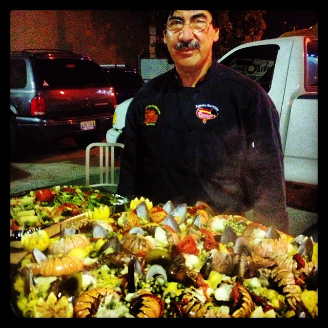 TONIGHT, @ THE CORNER... Saturday night Paella, prepared by the Master. 10pm on, good Spanish dinner time #thecornersgrub