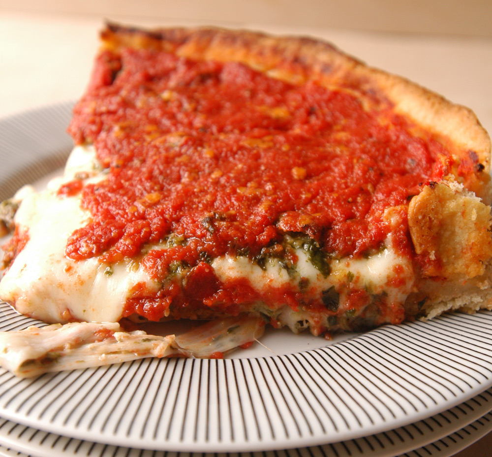 Deep Dish Spinach & Cheese