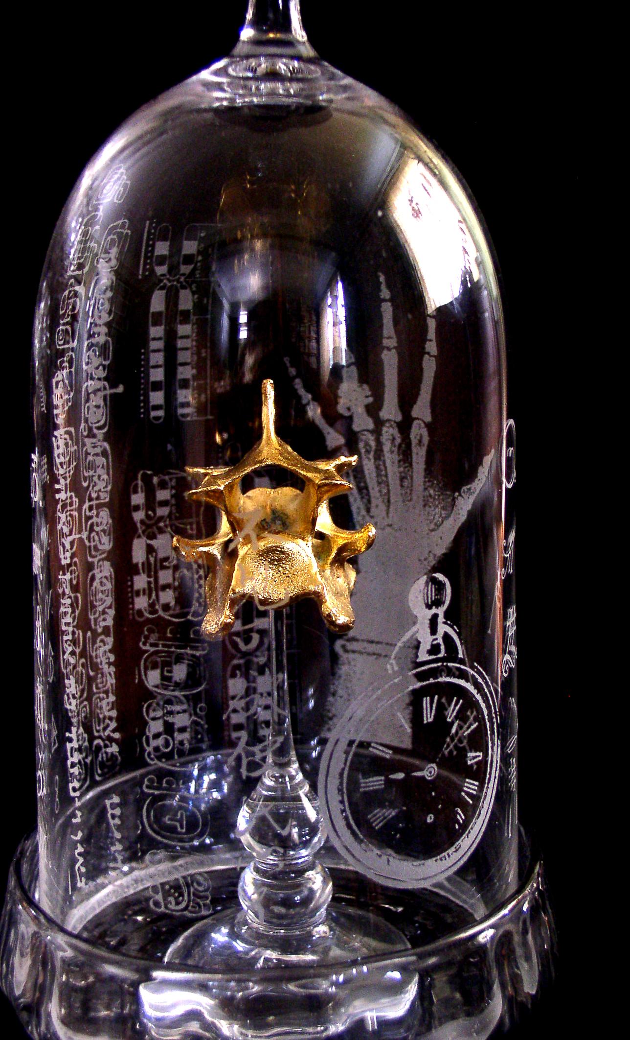 bell jar etching detail