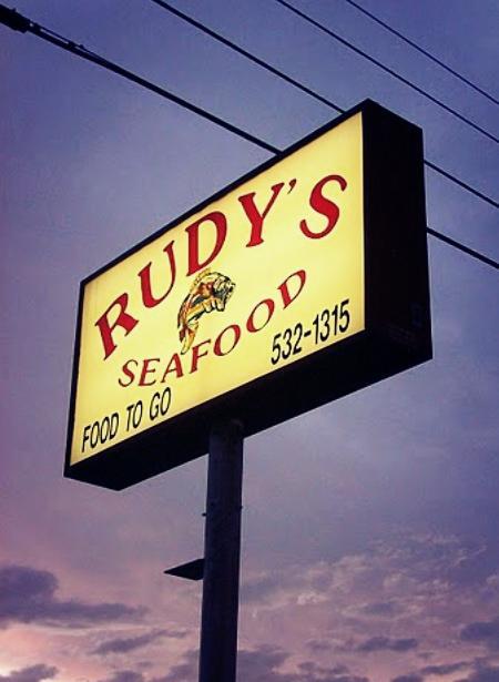 Original Rudy's Seafood Billboard