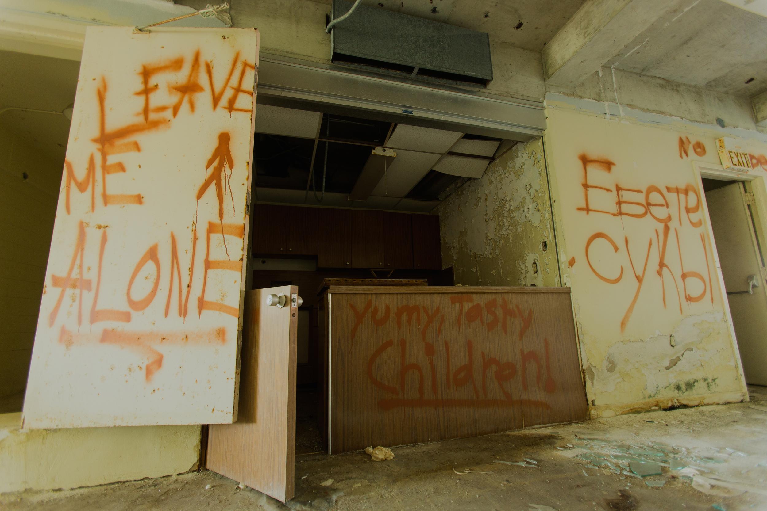 Glass Bank Graffiti