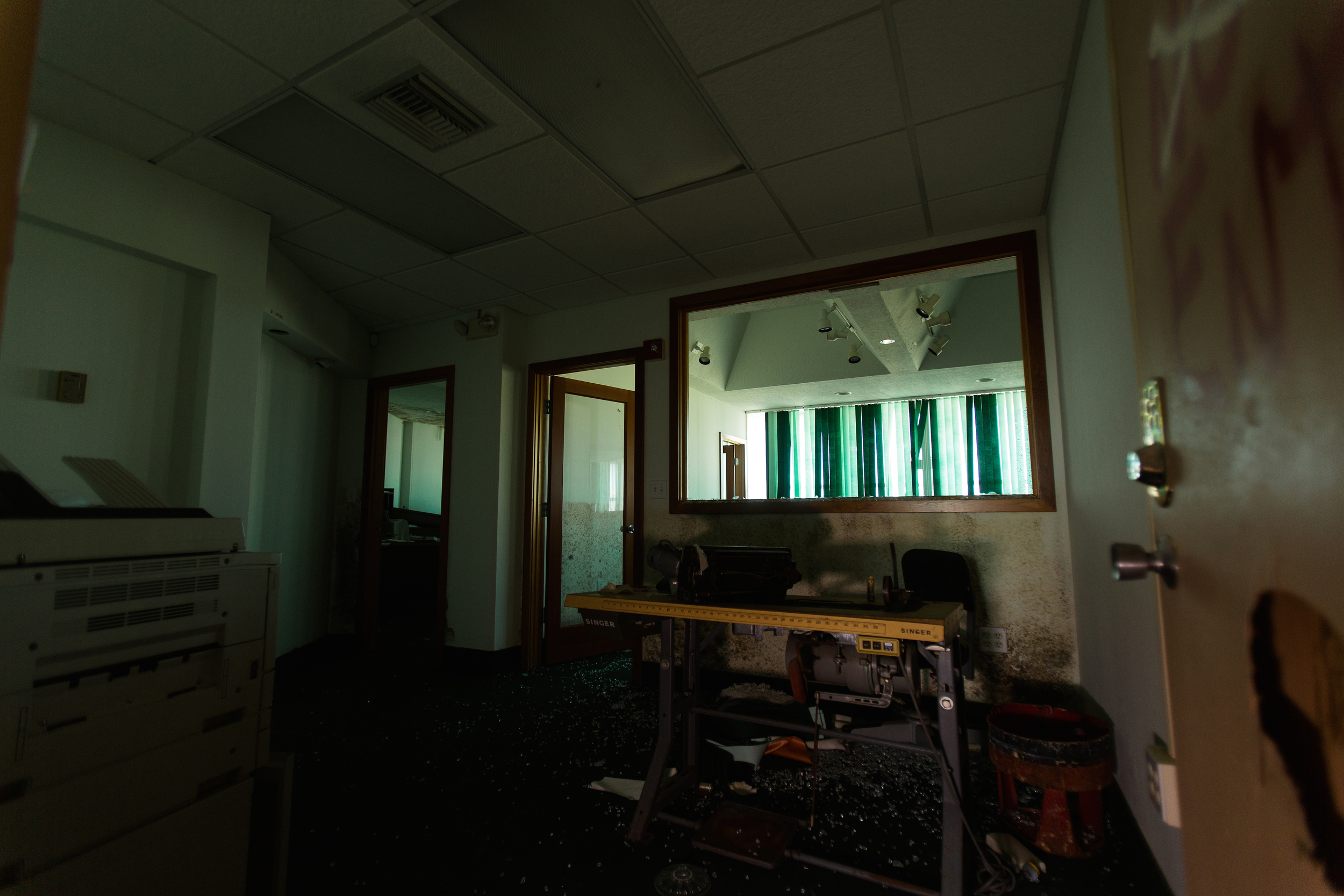 Glass Bank Sewing Office