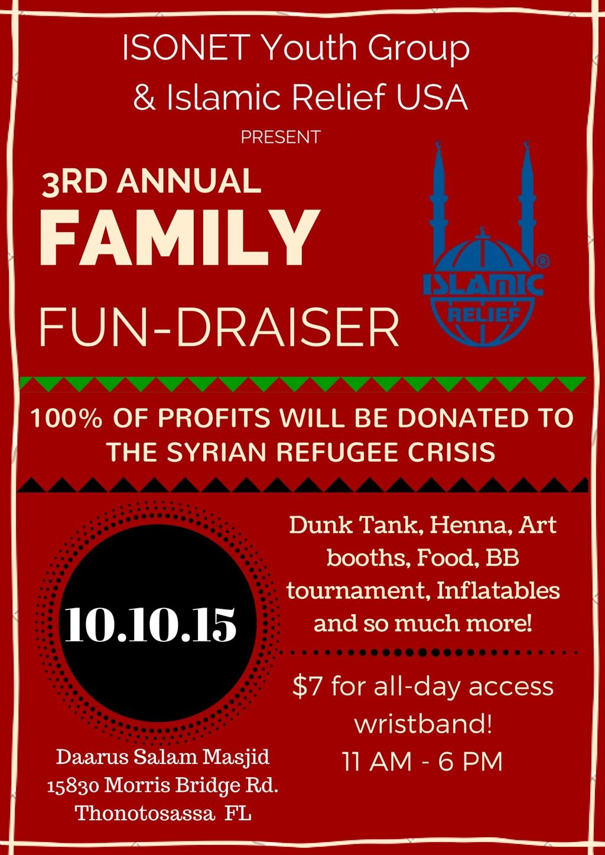 ISONET 3rd annual Family Fun-draiser!