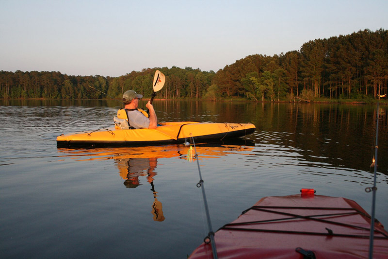 A KPAK on the water