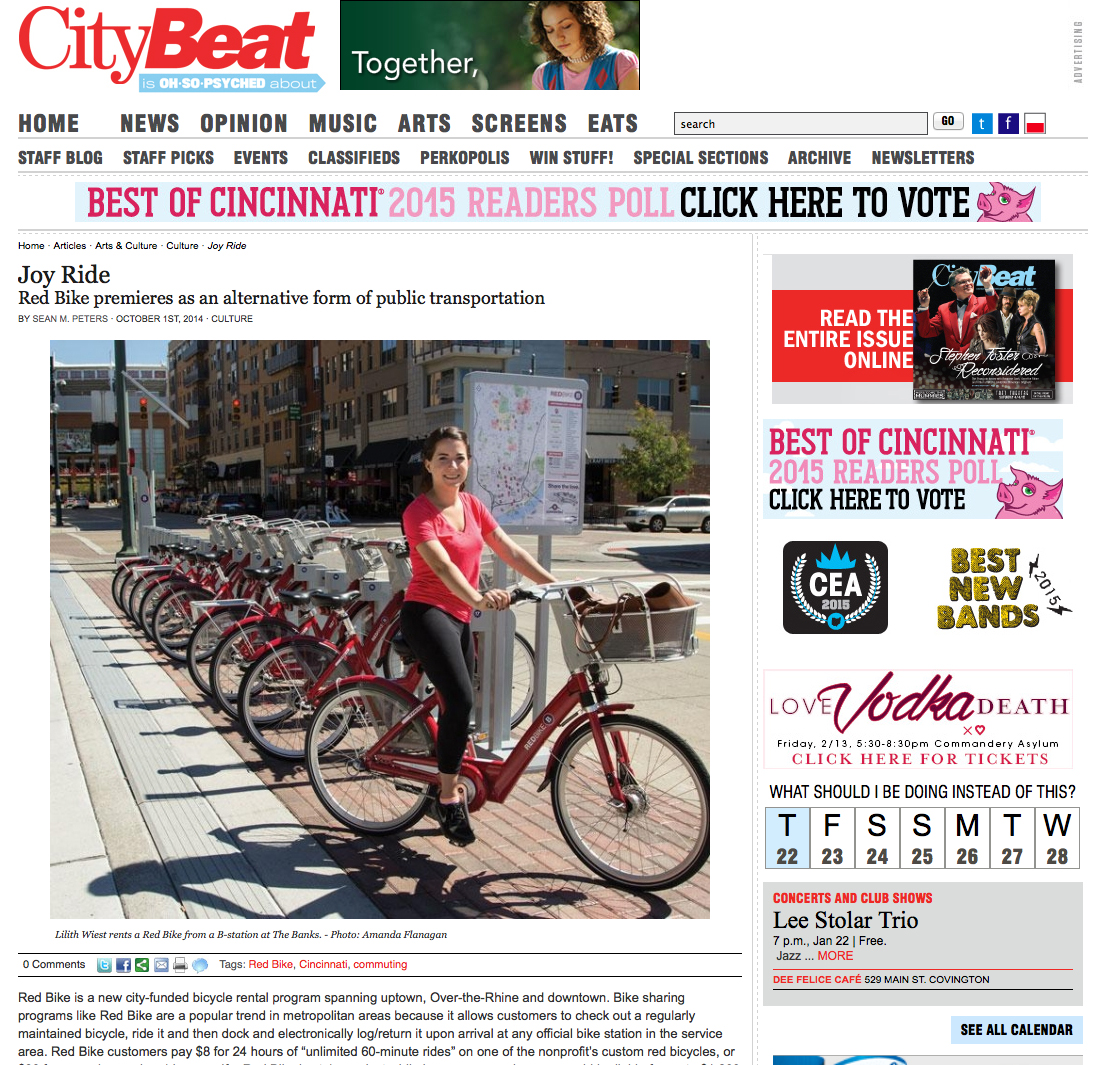 Red Bike in Cincinnati