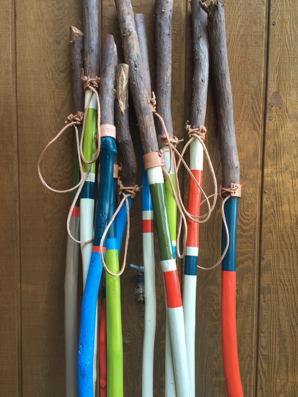 The complete line of 2016 walking sticks.