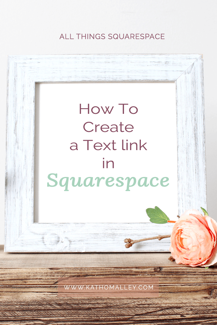 How to create a text link in Squarespace