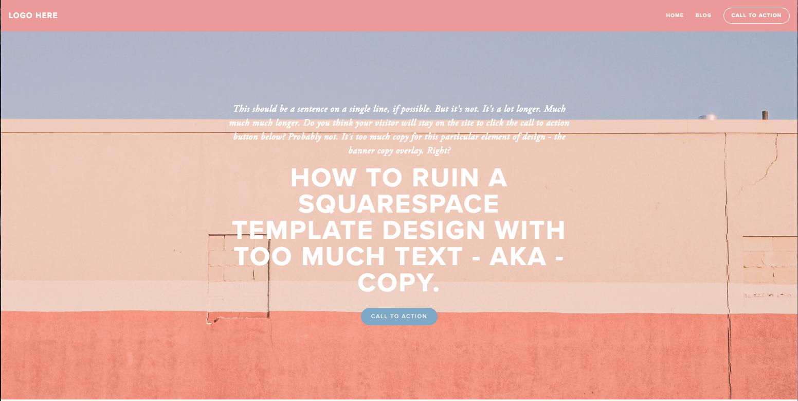 Web Copy for Squarespace Template Designs
