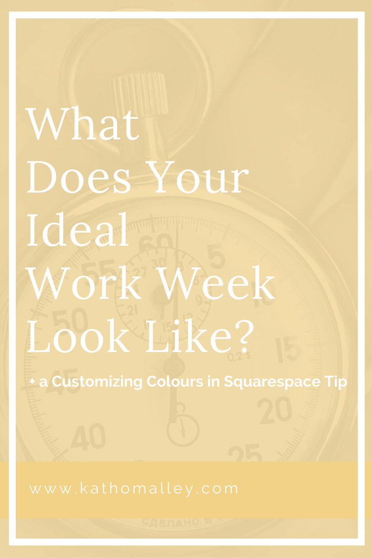 Ideal Week and Customizing Colours in Squarespace