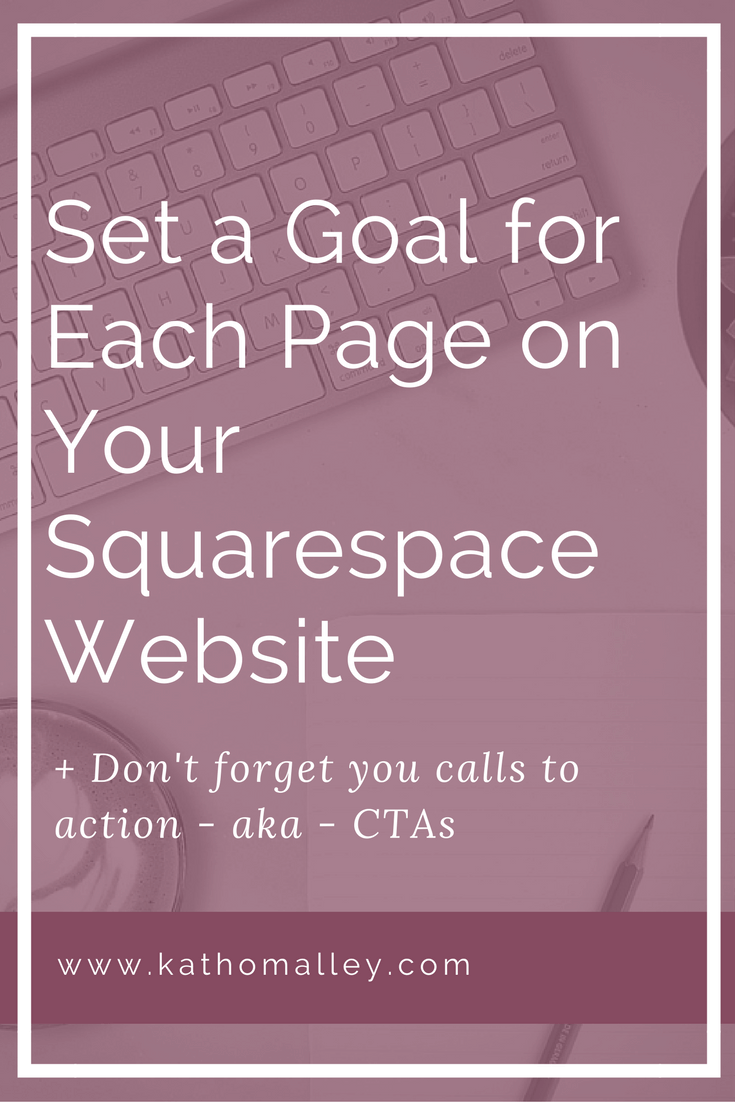 Set Specific Goals for your Squarespace website Pages
