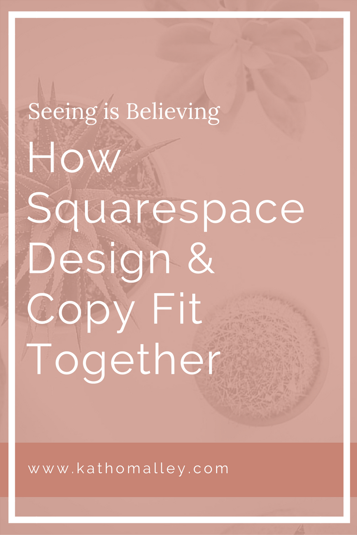 How Squarespace Design and Web Copy Fit Together
