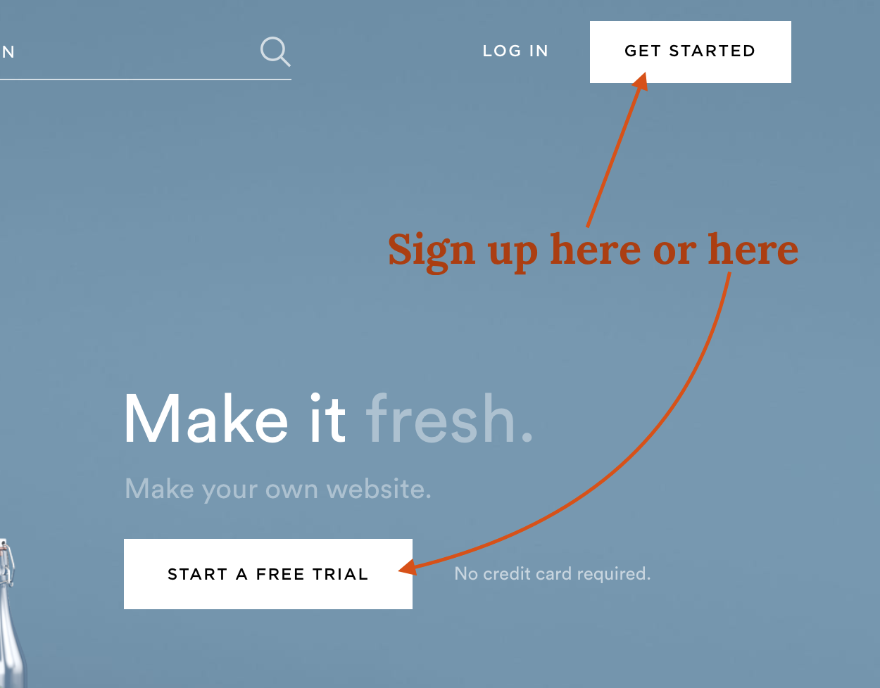 Sample Sign Up for Squarespace Account