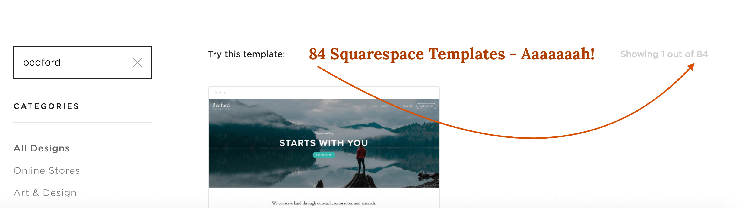 84 Squarespace Templates to Choose from
