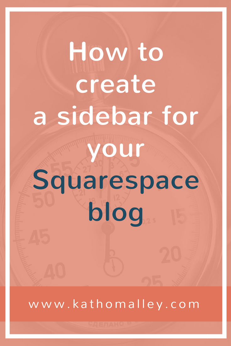 How to Create a Sidebar for a Squarespace Blog