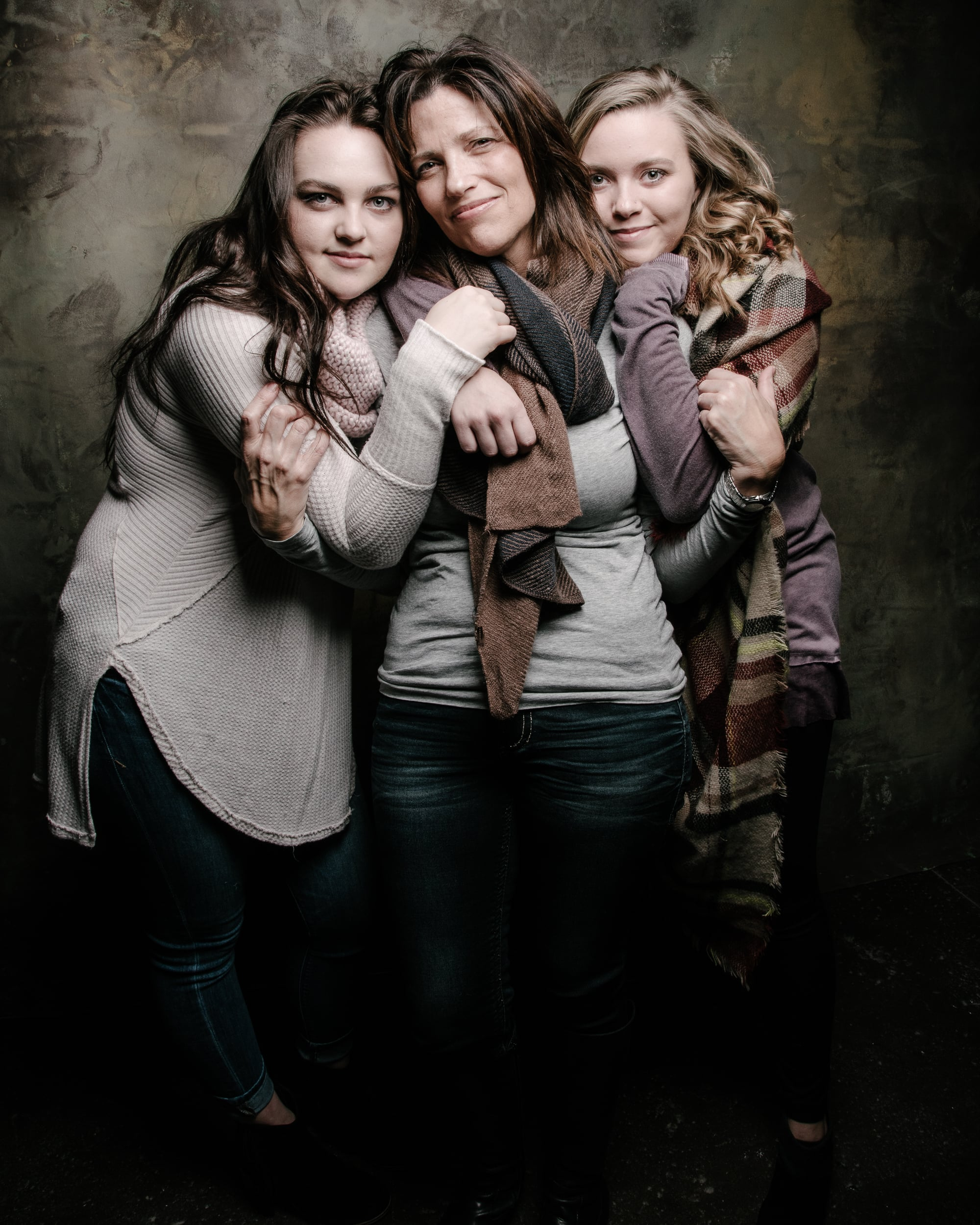 Angie with her daughters - 2016