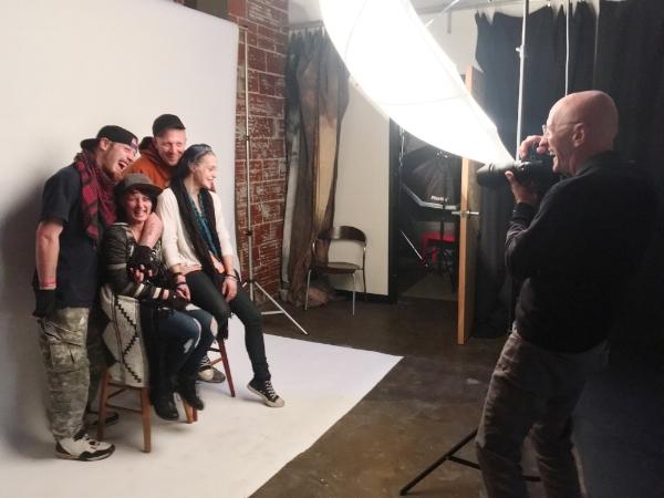 Randy behind the scenes (street friends) shoot (1)