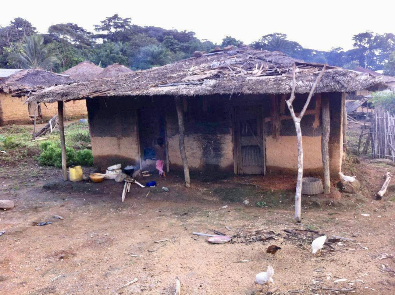 Moses's family home in village