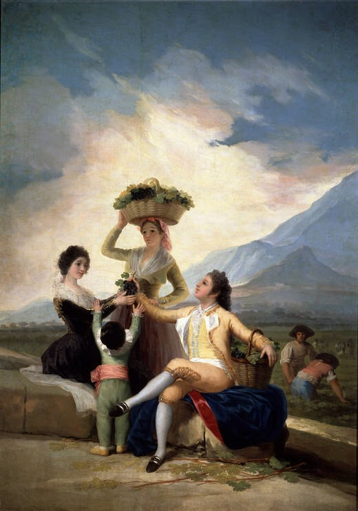 The Grape Harvest or Autumn  Francisco de Goya y Lucientes 1786