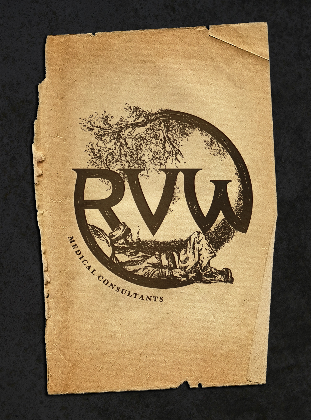 RVW illustration logo design