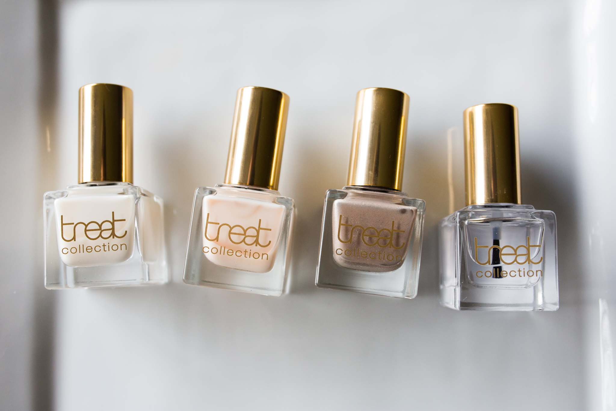 From left: Base Coat, Sugar Frosting, Cocktail Hour, Top Coat