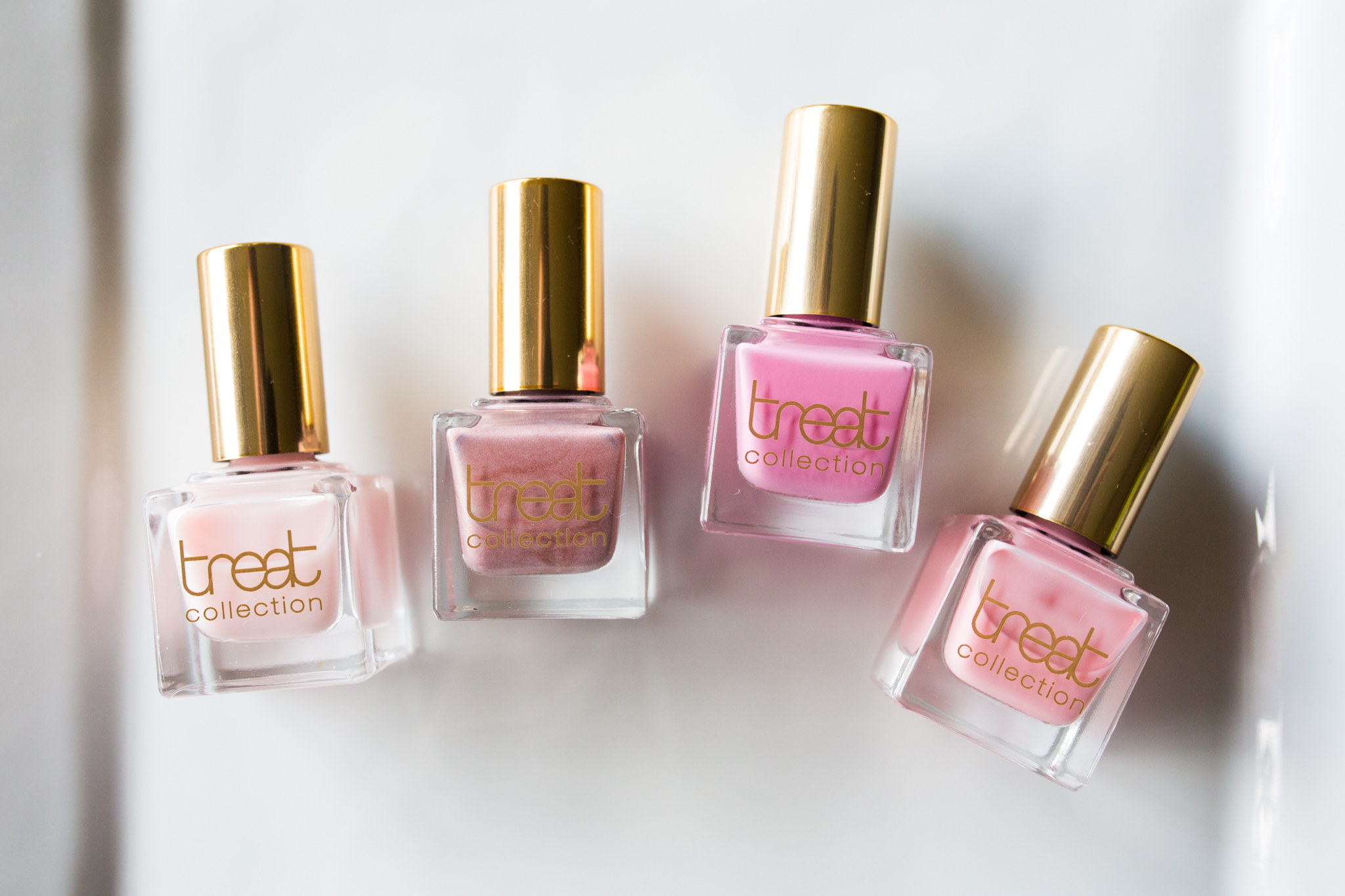 From left: Cherry Blossom, Wonderland, Cotton Candy, Honeymoon.