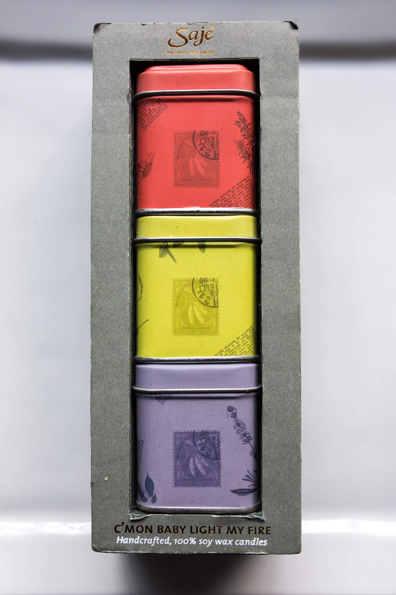 A trio of tin candles with impressive fragrance throw (Tanta is by far, my favorite of their fragrances).
