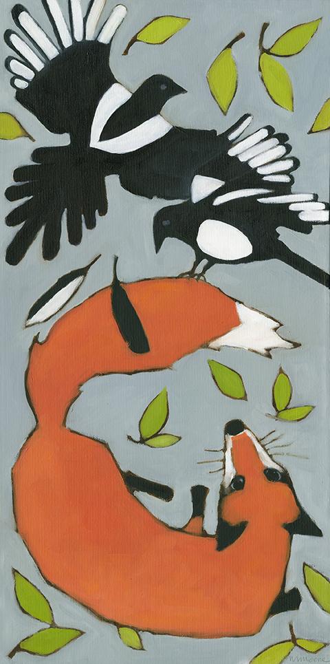 Magpies & Fox