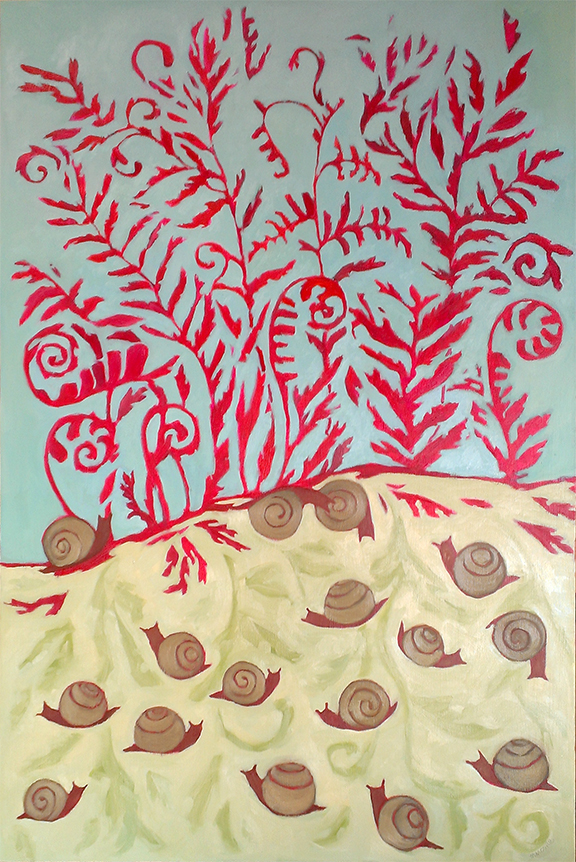 Red Ferns & Snails