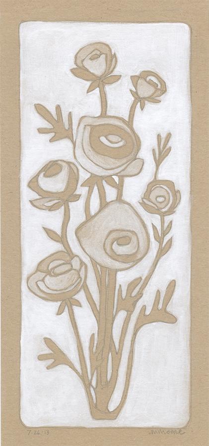 Brown & White Ranunculous