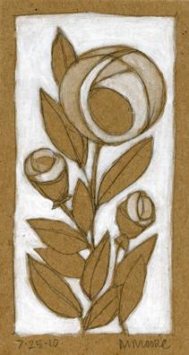 Brown & White Rose