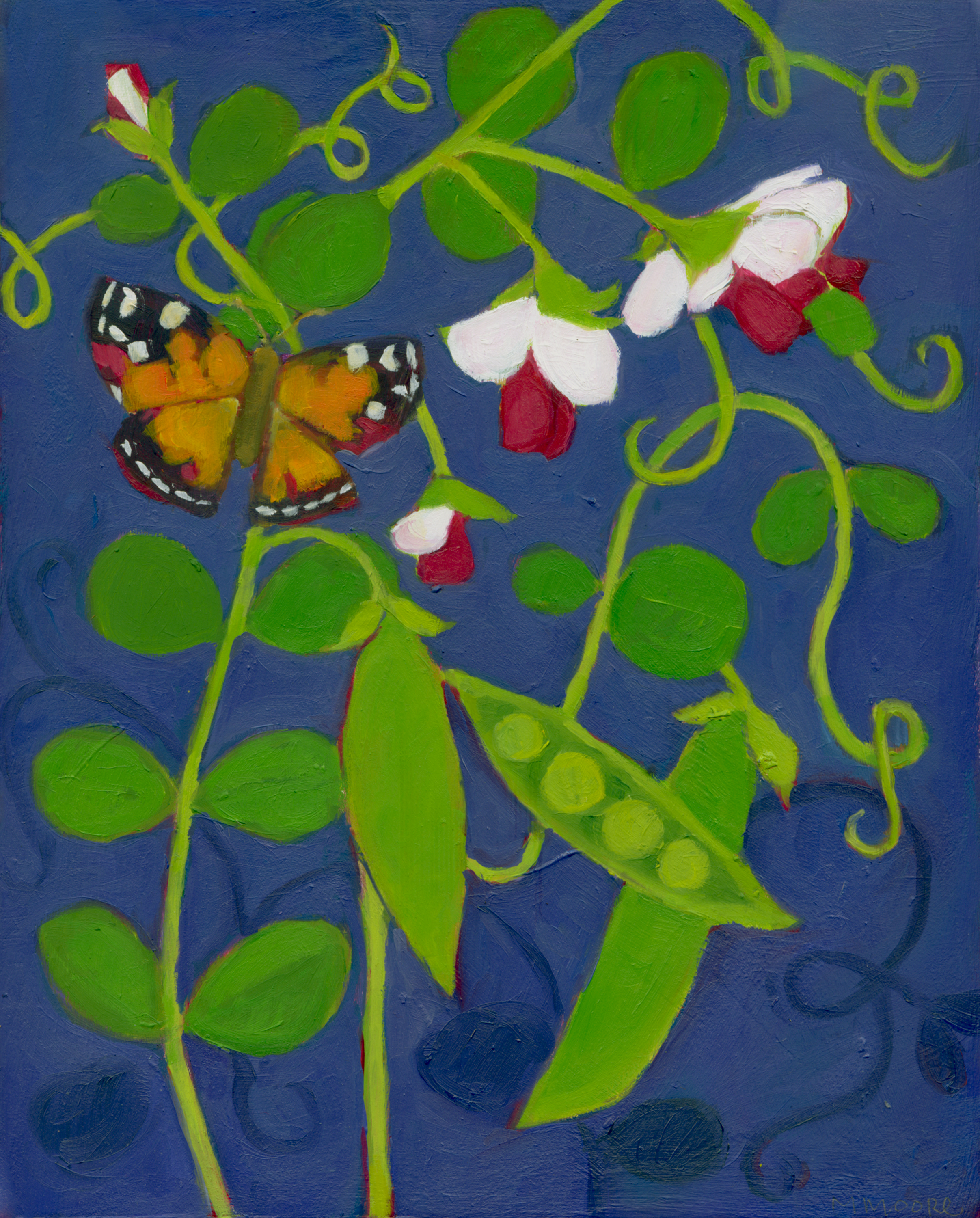 Snap Peas with Butterfly