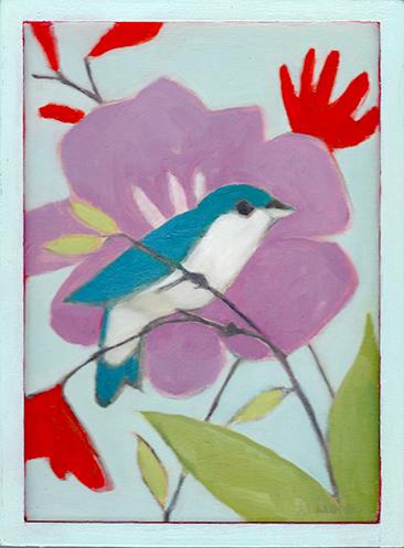 Mountain Bluebird on a Stem