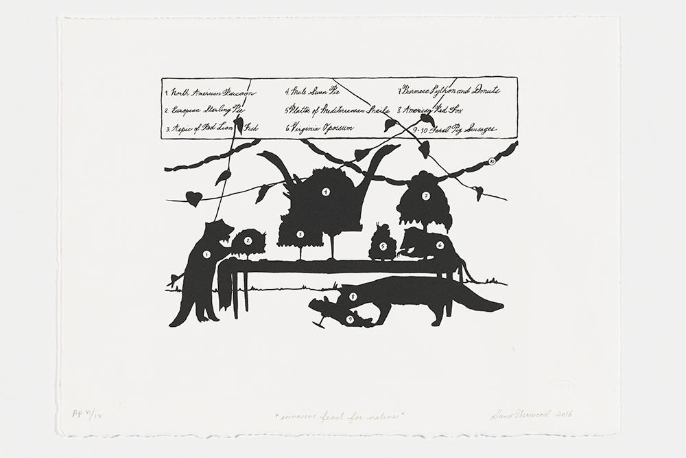 Silk Screen Print by Dana Sherwood