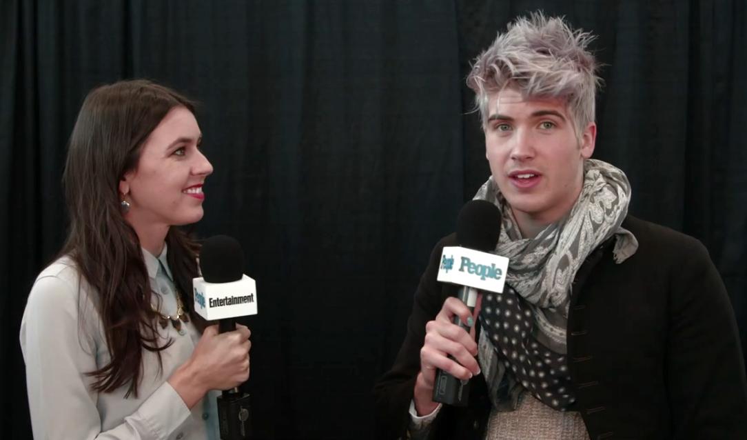 Interviewing YouTube star Joye Graceffa in 2015.