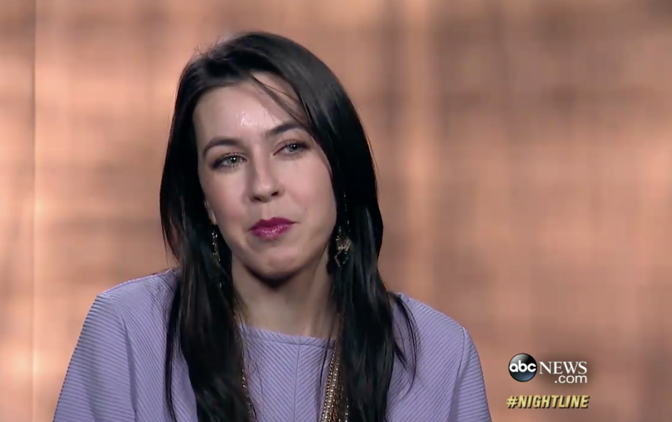 Giving the side eye to the camera while talking about Beyonce's vegan delivery startup in 2015.