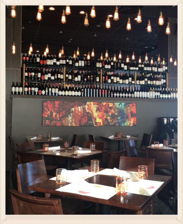 Wine bar lineup at Due Forni