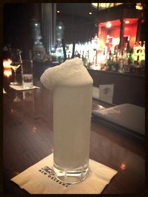 Ramos Gin Fizz at The Sazerac Bar