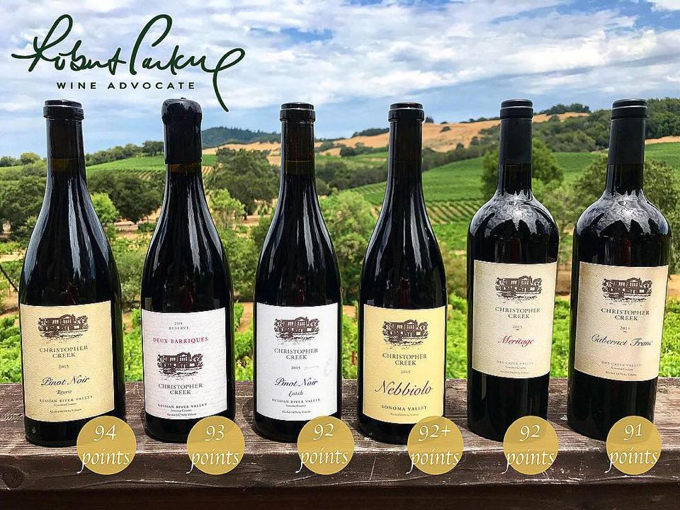 Christopher Creek Wines Rated 91+ By Robert Parker