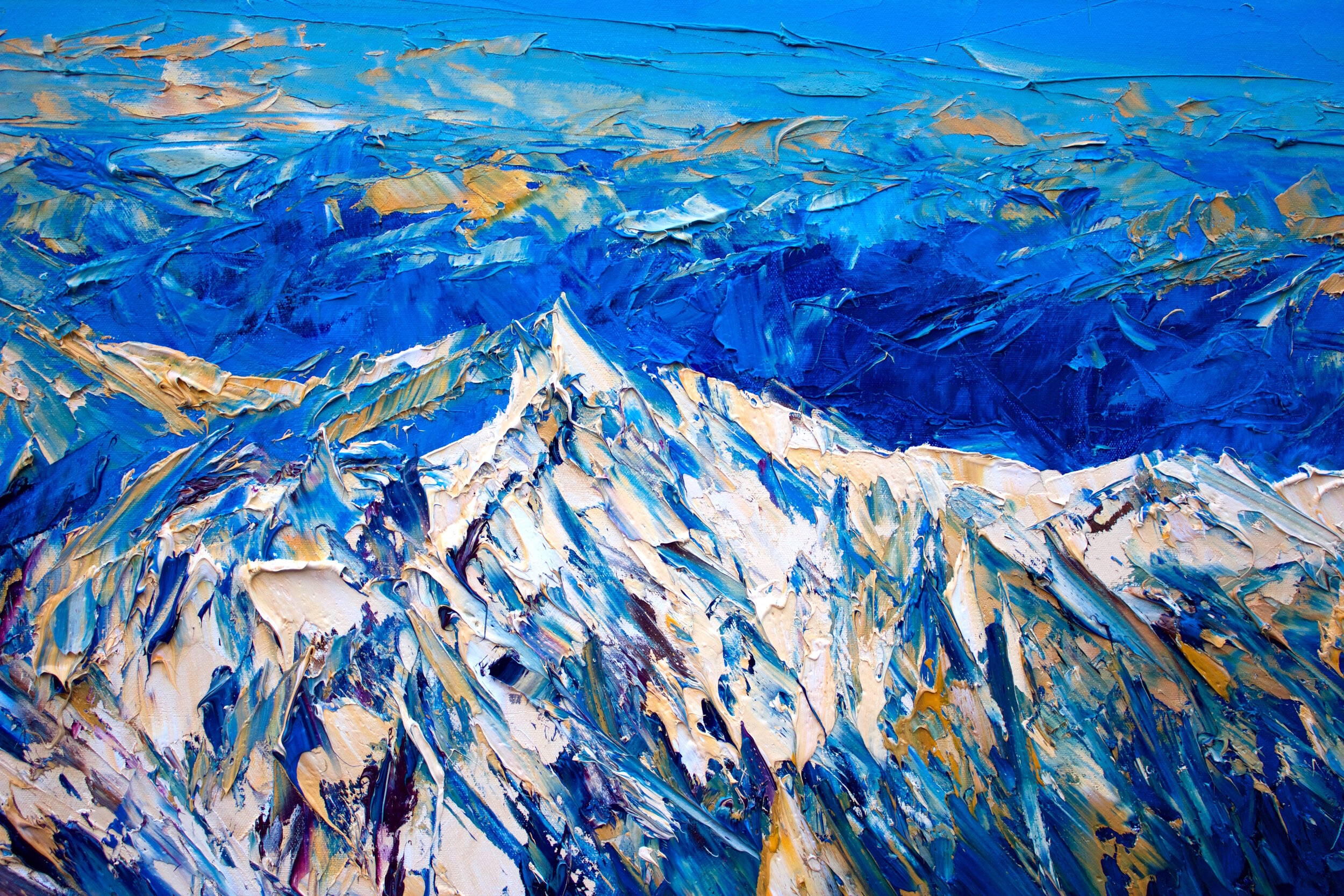 Detail: The Southern Alps From Above