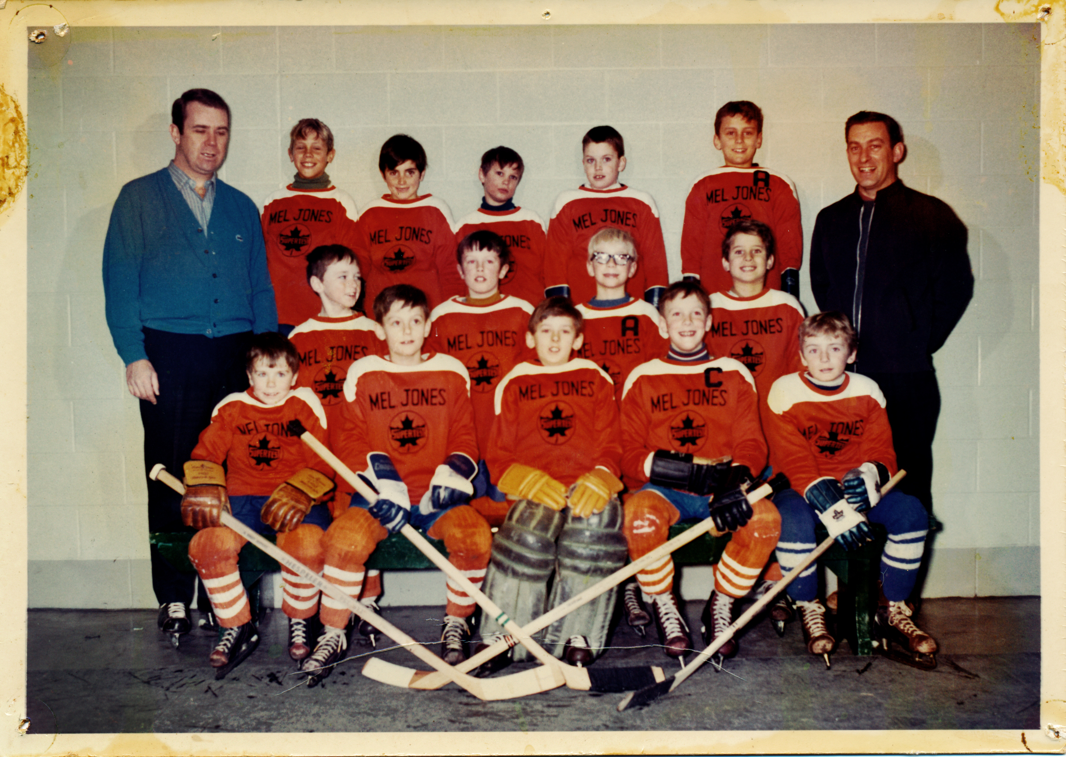 My first team Mel Jones SuperTest age 6 (2nd from the left, middle row)