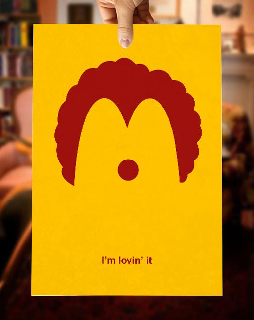 Minimalistic poster for Mc Donalds.