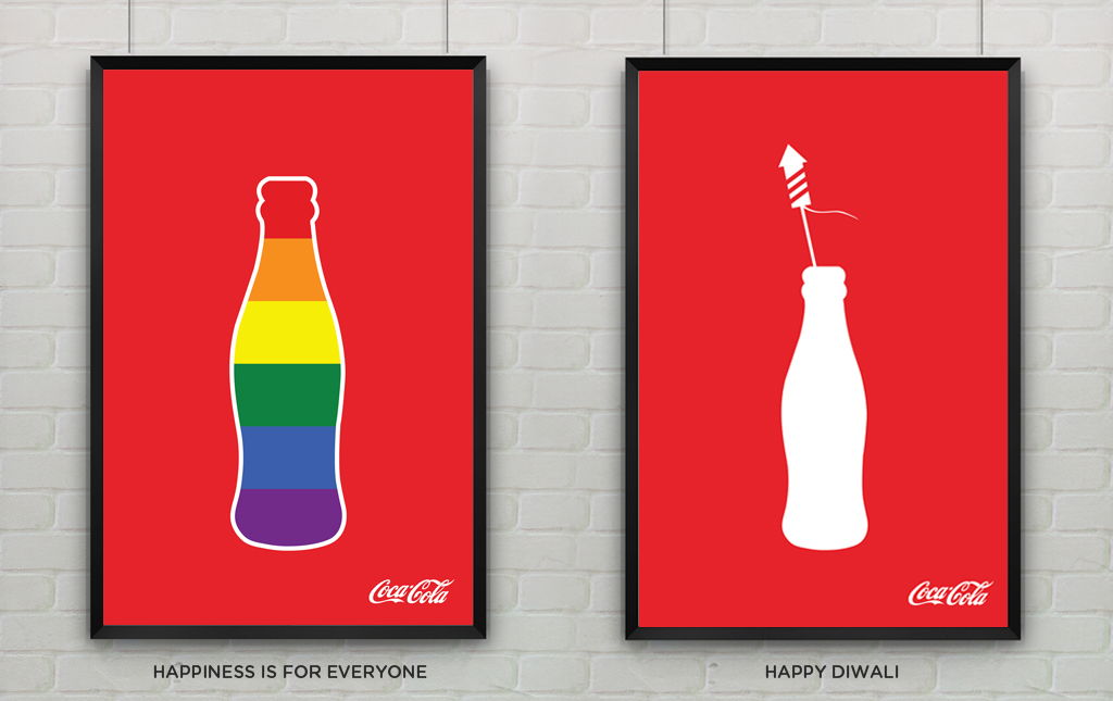 Playing with Coca Cola's flat illustration series.